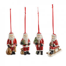 nostalgic ornaments santa ornaments set of 4 3 25 in villeroy