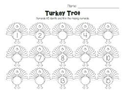 turkey trot thanksgiving number ordering activity