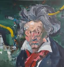 Was Beethoven Blind And Deaf Saatchi Art The Deaf Beethoven Painting By Liviu Mihai