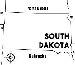 South Dakota Time Zone Map by South Dakota Sd State Information