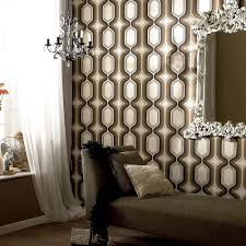 Wallpaper For Livingroom 25 Awesome Rooms That Inspire You To Try Out Geometric Wallpaper