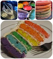 tutorial how to make a rainbow cake frugal upstate