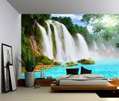 amazon com picture sensations canvas texture wall mural amazon com picture sensations canvas texture wall mural landscape mountain cliff waterfall self adhesive vinyl wallpaper peel stick fabric wall decal