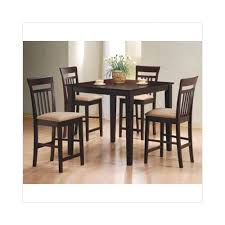 Counter Height Dining Room Chairs Cappuccino Finish Counter Height Dining Table 5 With 4
