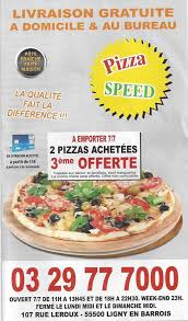 carte au bureau pizza speed la carte de votre restaurant pizza speed