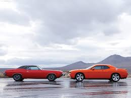Dodge Challenger Old - seeing these old and new car models together will set your mind racing