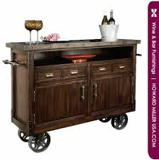 Rustic Bar Cabinet 695146 Howard Miller Rustic Distress Wine Bar Cart Console