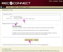 online confirmation class fitness registration guide florida state cus