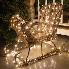 outdoor decorations 35 grapevine sleigh led outdoor