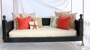 Red Bed Cushions Exterior Comfortable Terrace With Porch Swing Bed Plans Teak
