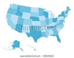 empty map of united states free us map silhouette vector