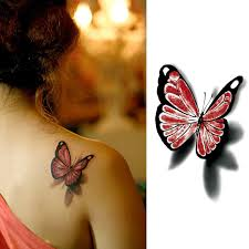 small 3d butterfly on back small tattoos istreetfashion