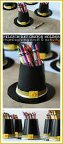 thanksgiving family activity ideas pilgrim hat crayon holder craft with family dollar family dollar