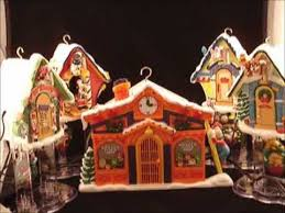 Animated Christmas Village Decorations by Disney U0027s Mickey Clock Shop From Mr Christmas Holiday Innovations