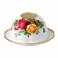 royal albert country roses tea light votive royal albert uk