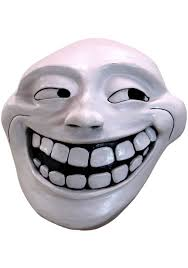 Face Mask Meme - troll face meme mask for adults