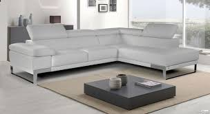 coin canapé canapé de coin haut de gamme cuir blanc