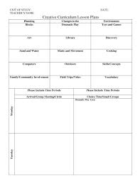 preschool lesson plan template book curriculum elipalteco