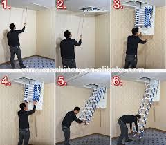 new style wall mounted folding stairs buy aluminum folding