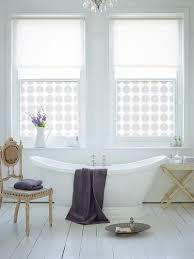 chic bathroom design with custom printed window film and glamorous