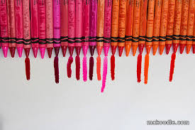 shades of red list melted crayon art makoodle