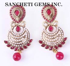 ear ring photo buy colored stones imitation earring from sancheti gems inc new