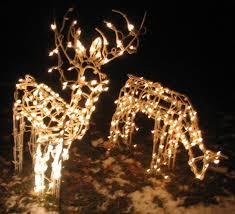 lighted reindeer crafty ideas christmas lighted reindeer decorations family