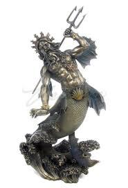 poseidon greek god of the sea statue classic hostess