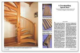 Free Standing Stairs Design A Freestanding Spiral Stair Fine Homebuilding