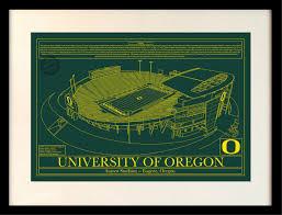Autzen Stadium Map Oregon Autzen Stadium In Colors Stadium Blueprint Company
