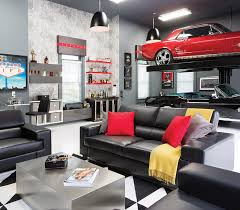 garage room room envy a briarcliff garage becomes an upscale man cave atlanta