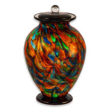 cremation urns for adults blown glass cremation urn for adults in amato autumn urns