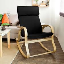 Comfortable Rocking Chairs Amazon Com Sobuy Wood Relaxing Rocking Chair Gliders Lounge Chair