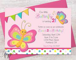 butterfly birthday invitation girls birthday party invite
