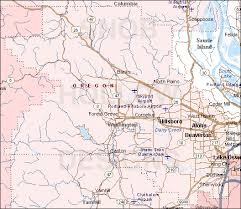 oregon county map washington county oregon color map