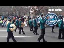 eagles drumline marching in the 94th annual thanksgiving day