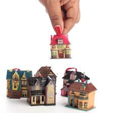 miniature house ornaments ornaments