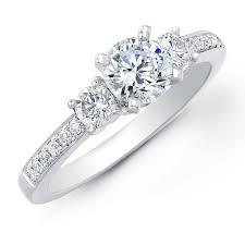 engaged ring 1ct tw diamond three engagement ring