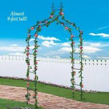 wedding arbor ebay garden arbor trellis iron patio archway with gate wedding arch 7