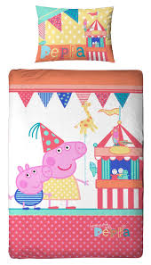 peppa pig funfair single panel duvet quilt cover kids reversible