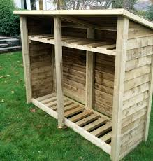 wood store gidleigh 6ft bay log store firewood storage