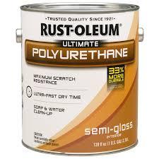 shop rust oleum gallon semi gloss polyurethane varnish at lowes com