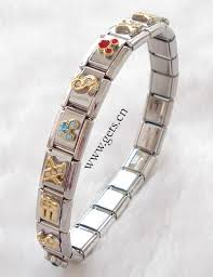 stainless steel bracelet links images Stainless steel italian charm link jpg