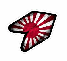 jdm car stickers rising sun wakaba leaf wak young driver jdm car sticker bomb decal