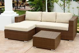 Dark Brown Wicker Patio Furniture by Amazon Com Abbyson Ventura Outdoor Wicker Sectional And Table