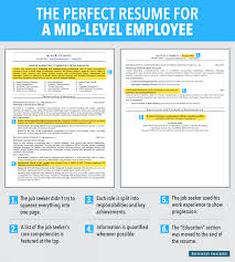 Resume For Ba Here Is An Ideal Résumé For A Mid Level Employee Business Insider