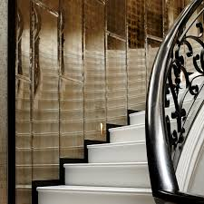 verre églomisé specialist luxury finish to stairwell of private