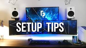5 tips to improve your desk gaming setup youtube
