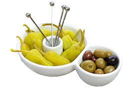 amazon com uno casa snack serving set 5 piece set with bowl u0026 4