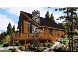 chalet style house eplans chalet house plan three bedroom chalet 1468 square